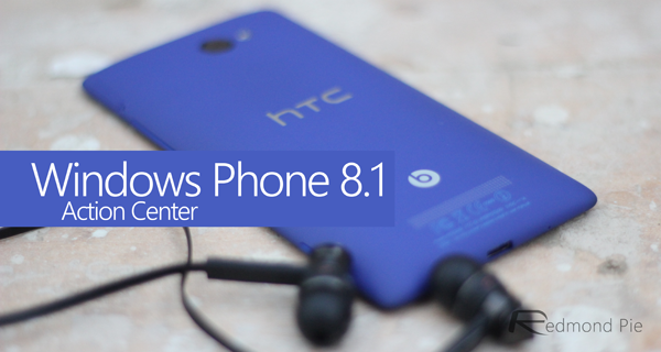 Windows Phone 81 Action Center