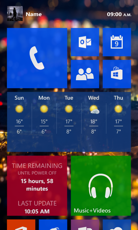 Windows Phone 9 concept 1