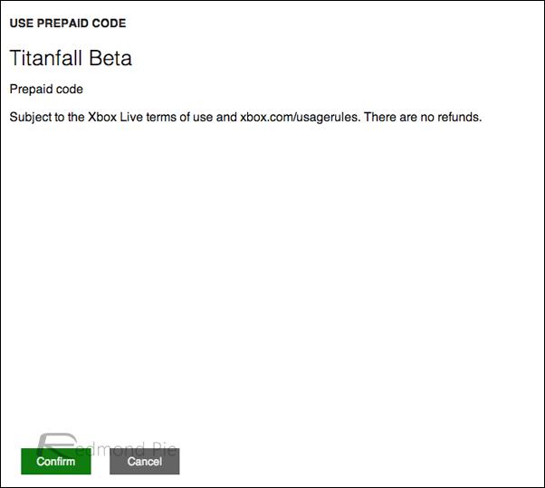 Xbox LIVE titanfall beta