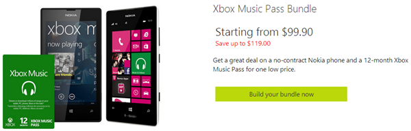 Xbox Music Bundle Lumia 520 521