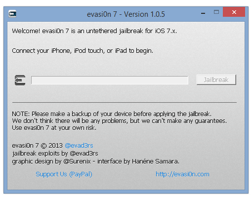 evasi0n7 7.0.5