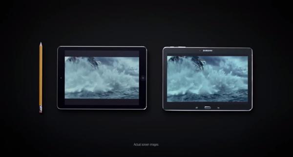 iPad Air Galaxy Tab Pro screen size header