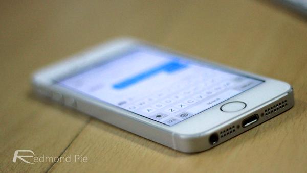 iPhone 5s keyboard