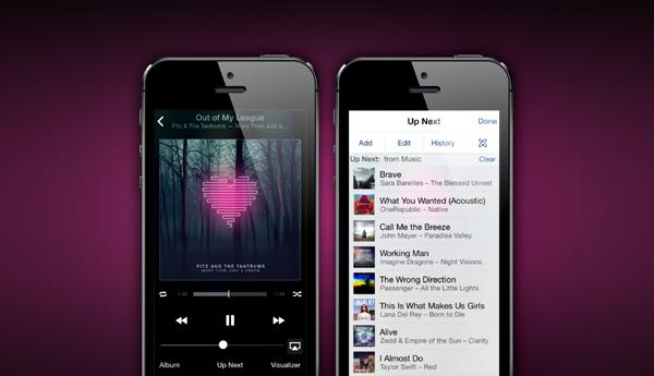 Apple iOS Remote header