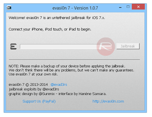 Evasi0n 107 Windows Mac