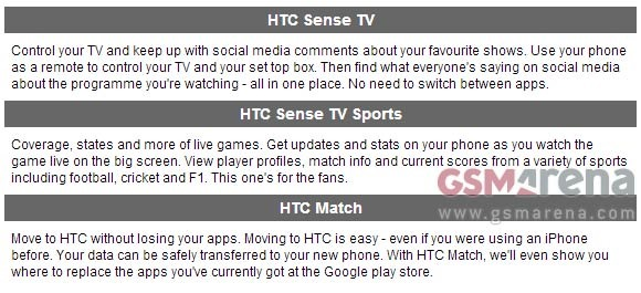 New HTC One sales apps