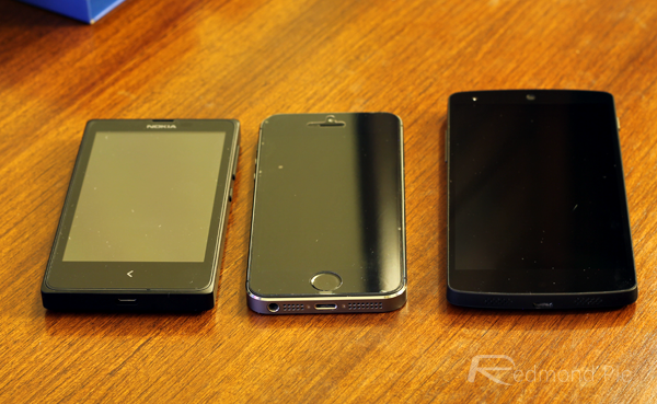 Nokia X iPhone 5s Nexus 5