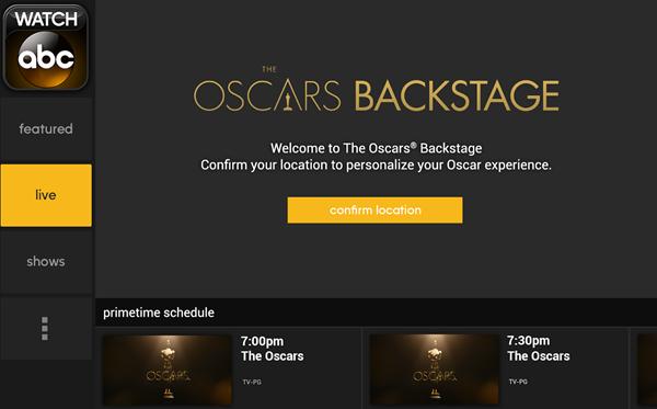 Oscars Watch ABC