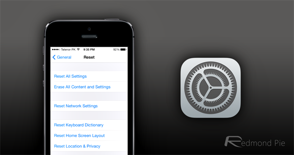 Reset Settings iOS 7 header
