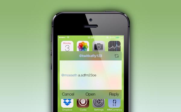 TwitkaFly iOS 7 reply