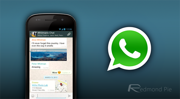 WhatsApp Android copy