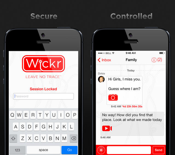 Wickr iPhone header
