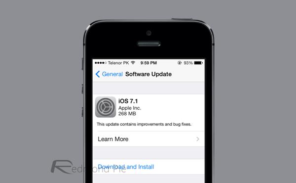 iOS 71 OTA update
