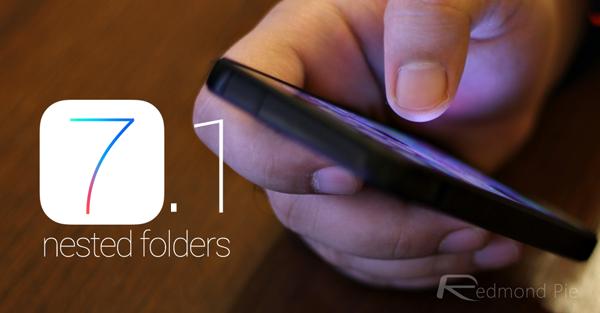 iOS 71 folders