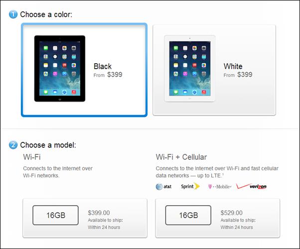 iPad 4 price