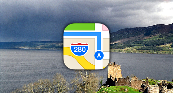 Apple Maps Loch ness
