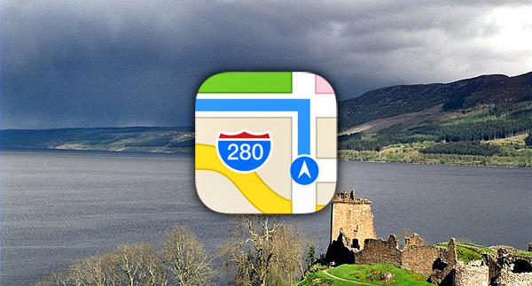 Apple Maps Loch ness