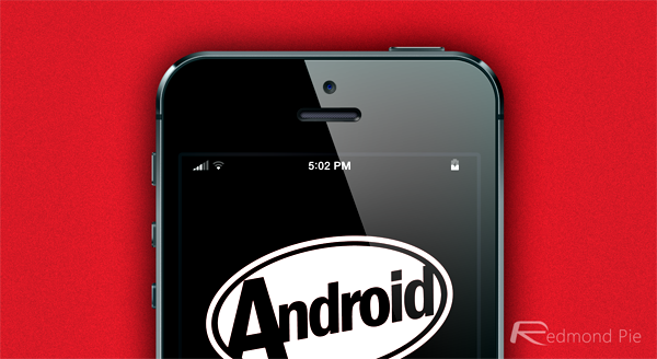 KitKat battery signal bars iPhone