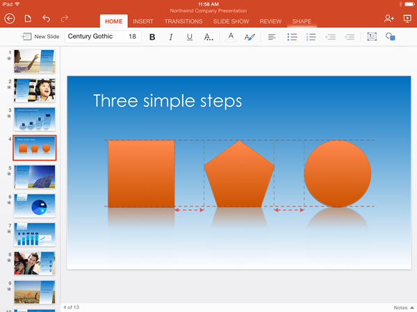 Office PowerPoint align