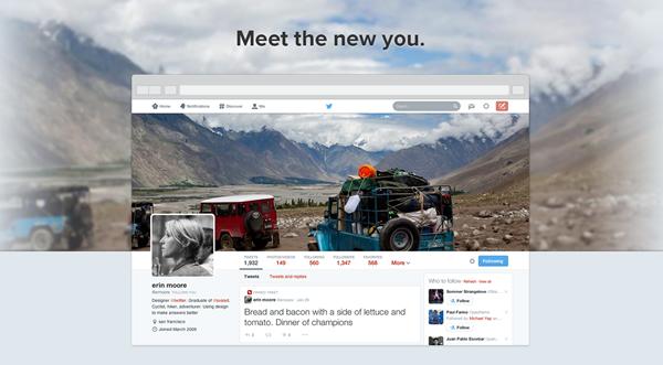 Twitter new profile.