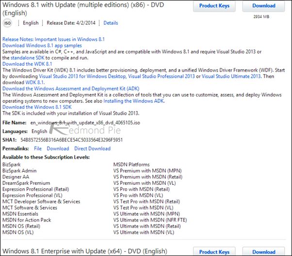 Windows 81 ISO MSDN