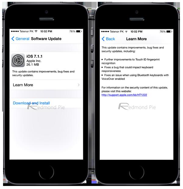 iOS 7.1.1 OTA