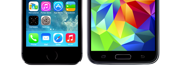 iPhone 5s vs GS5 fingerprint