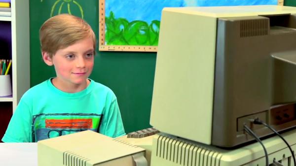 Apple II kids react
