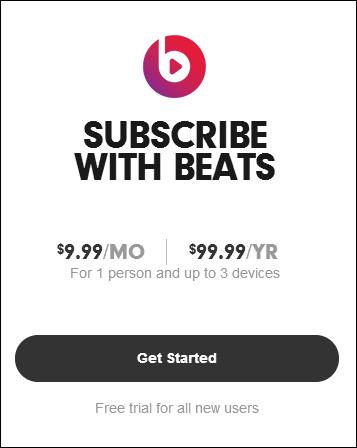Beats subscription