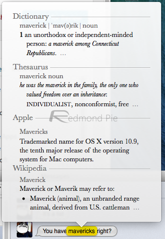 Dictionary OS X