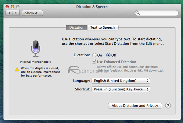 Enhanced Dictation