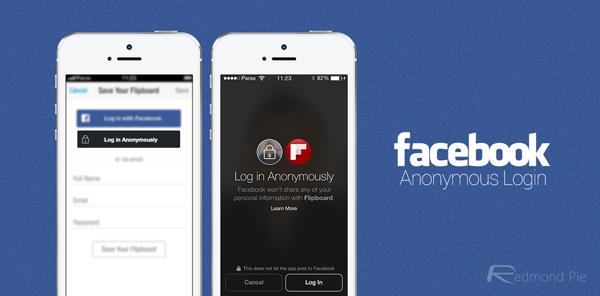 Facebook Anonymous Login main