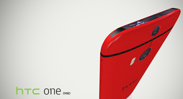HTC One M8 red rear
