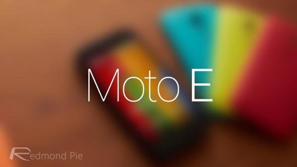 Moto E main