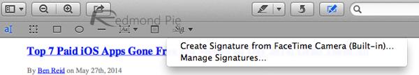 Signature OS X