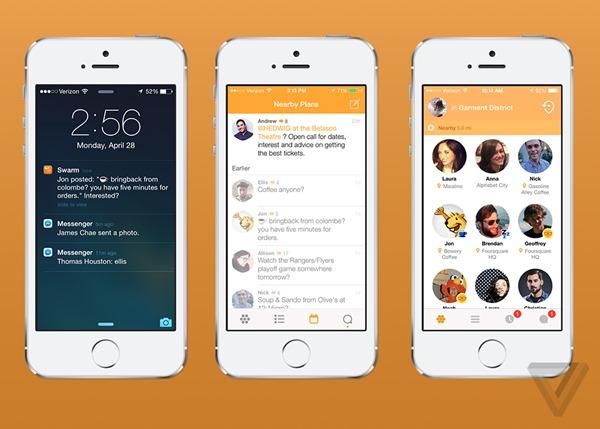 Swarm Foursquare screenshot