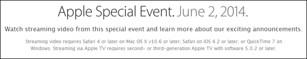 WWDC 2014 requirements
