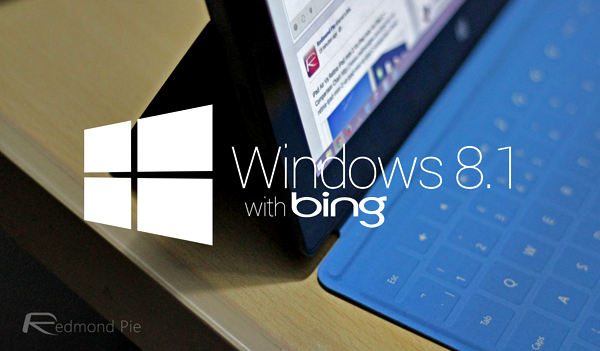Window 81 with bing logo