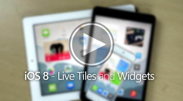 iOS 8 concept live tiles widgets