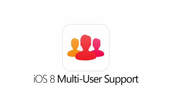 iOS 8 multi user concept