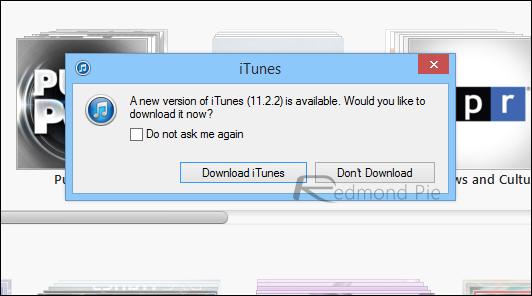 iTunes 1122 update