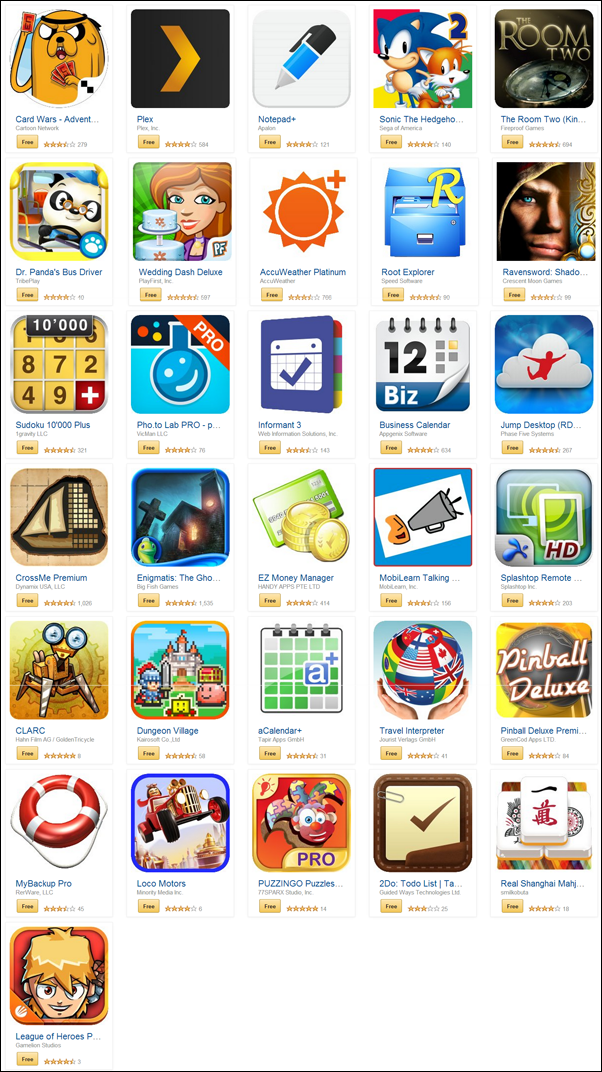 Amazon free apps