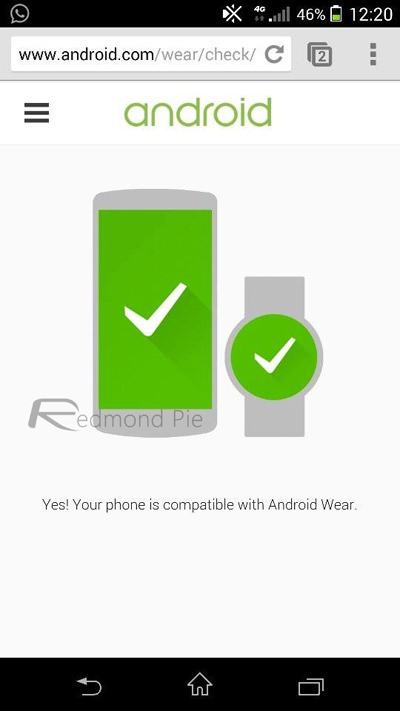 Android Wear compatibility check
