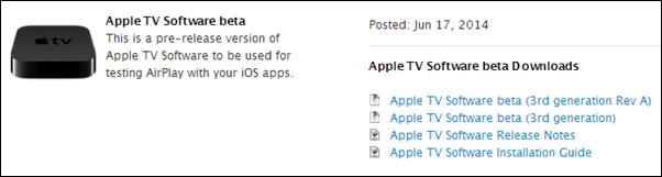 Apple TV iOS 8 beta