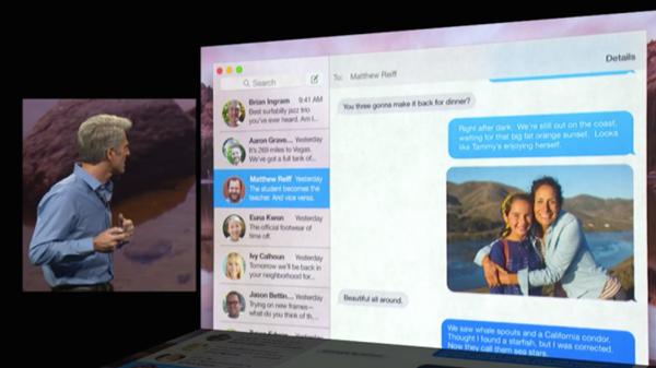 OS X Yosemite Messaging