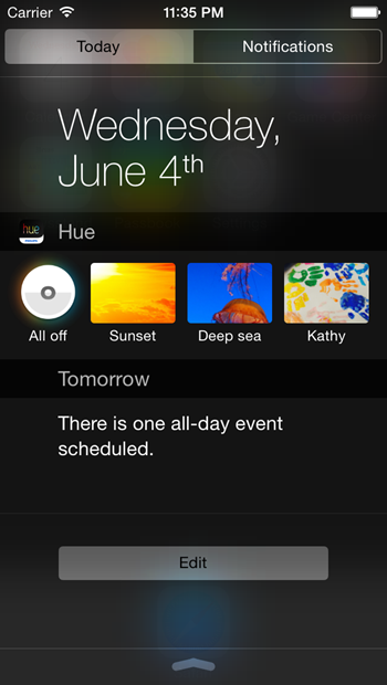 Philips Hue Widget