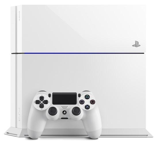 white PS4 2