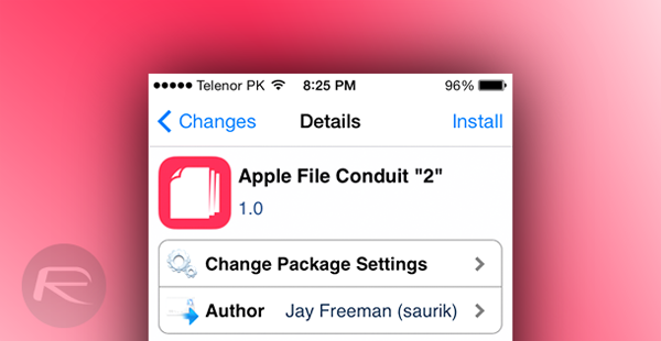 Apple File Conduit 2 cydia