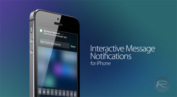 How To Get iOS 8 Beta Style Interactive Notifications