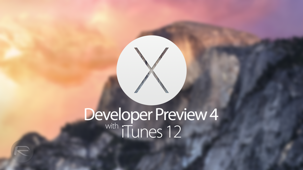 Yosemite DP4 itunes 12 main
